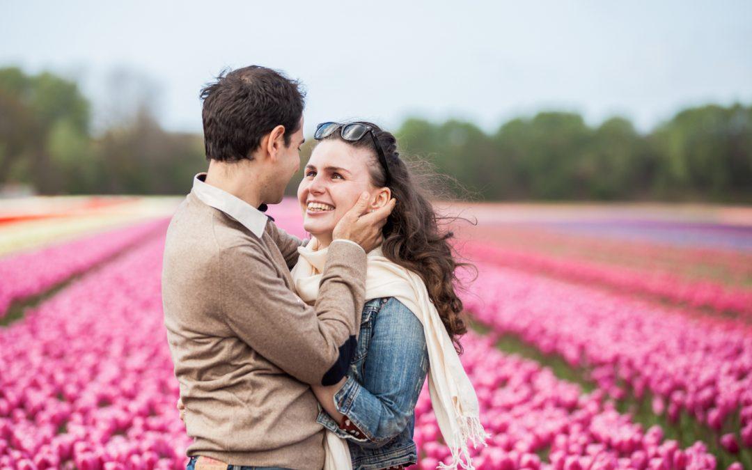 Loveshoot bollenveld: Bertilla & Luca