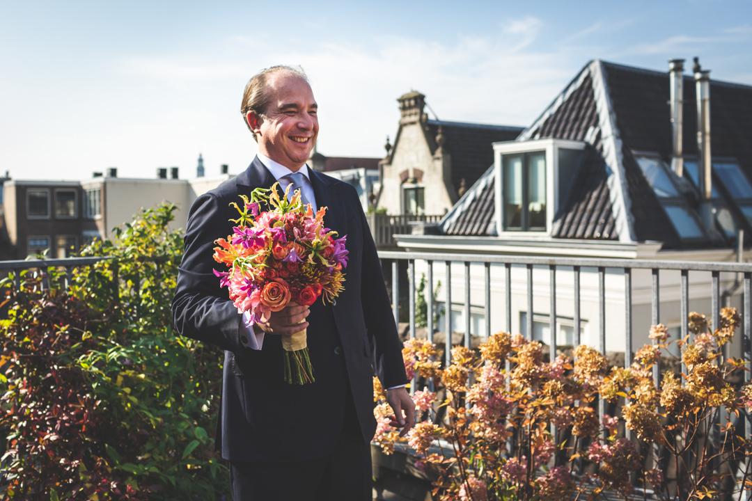 bruiloft in Amsterdam